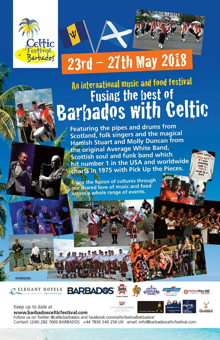 Barbados Celtic Festival 2018 - What's On In Barbados 2018