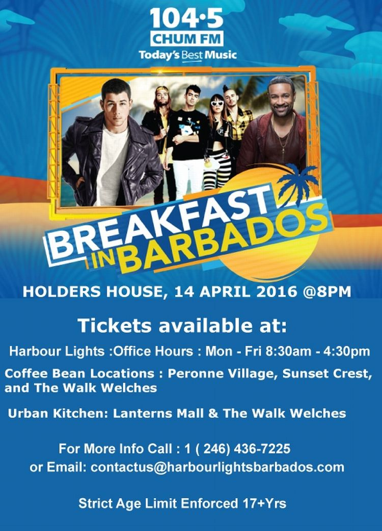 Chum Fm Breakfast In Barbados Concert What S On In Barbados 2016