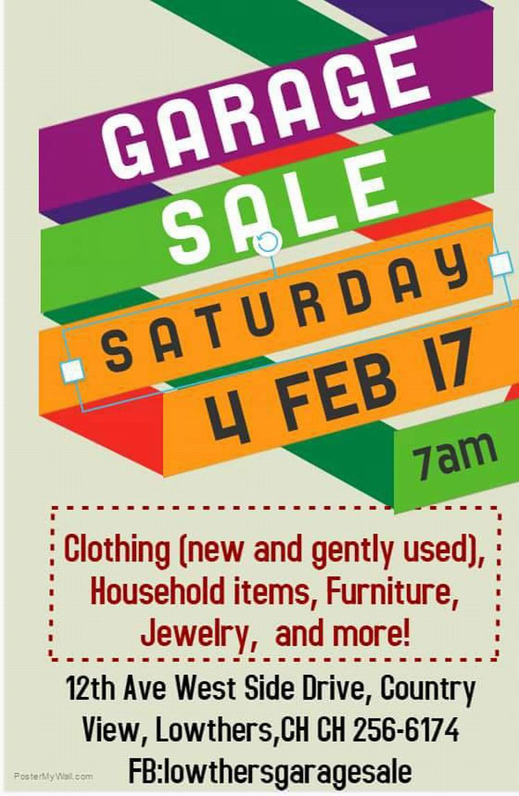 Garage Sale in Lowthers - What\'s On In Barbados - 2017-02-04