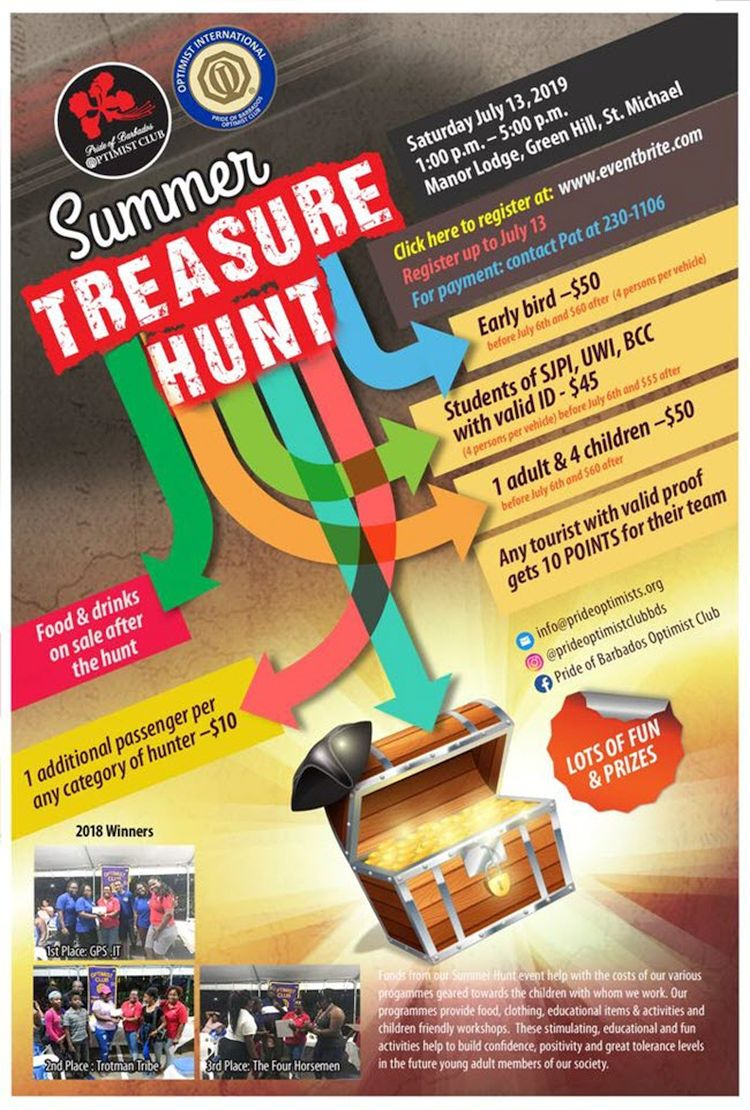 Pride of Barbados Optimist Club: Summer Treasure Hunt