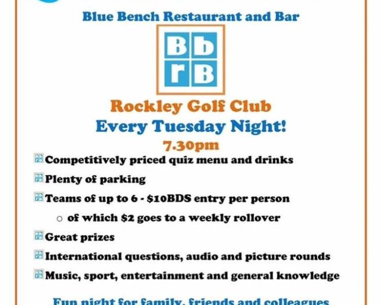 Quiz Night at Blue Bench Restaurant and Bar - What's On In