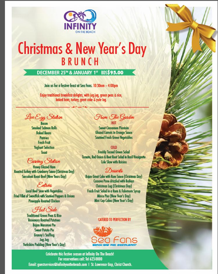 sea fans beach bar and restaurant invites you to their new years day brunch