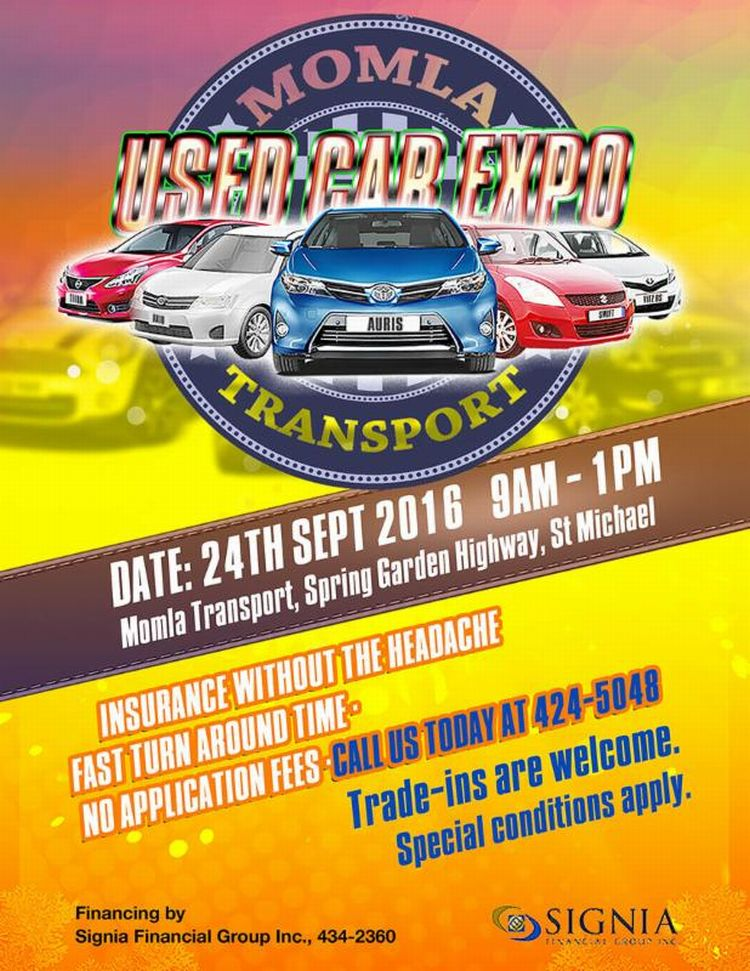 Signias Used Car Expo Whats On In Barbados - Fast car edm