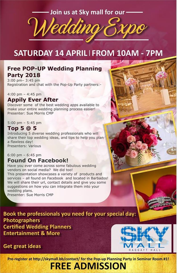 Sky Mall's Wedding Expo - What's On In Barbados 2018-04-14