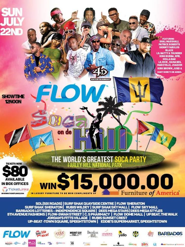 Crop Over Festival - Soca On De Hill - What's On In Barbados
