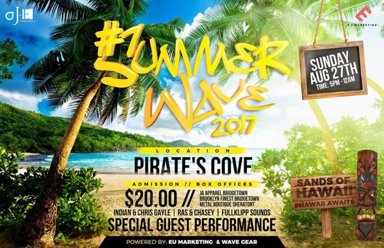 Delightful Summer Wave 2017 Presents Sandz Of Hawaii At Pirates Cove Beach Bar