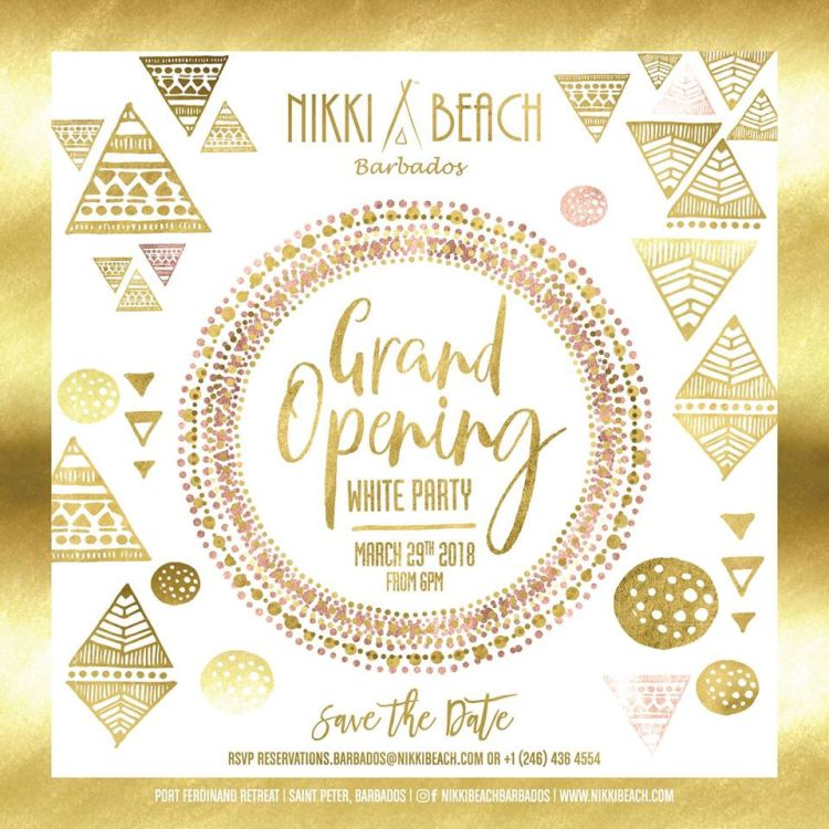 White Party Grand Opening at Nikki Beach - What\'s On In Barbados